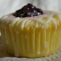 Lemon Cupcakes with Wild Blueberry Filling