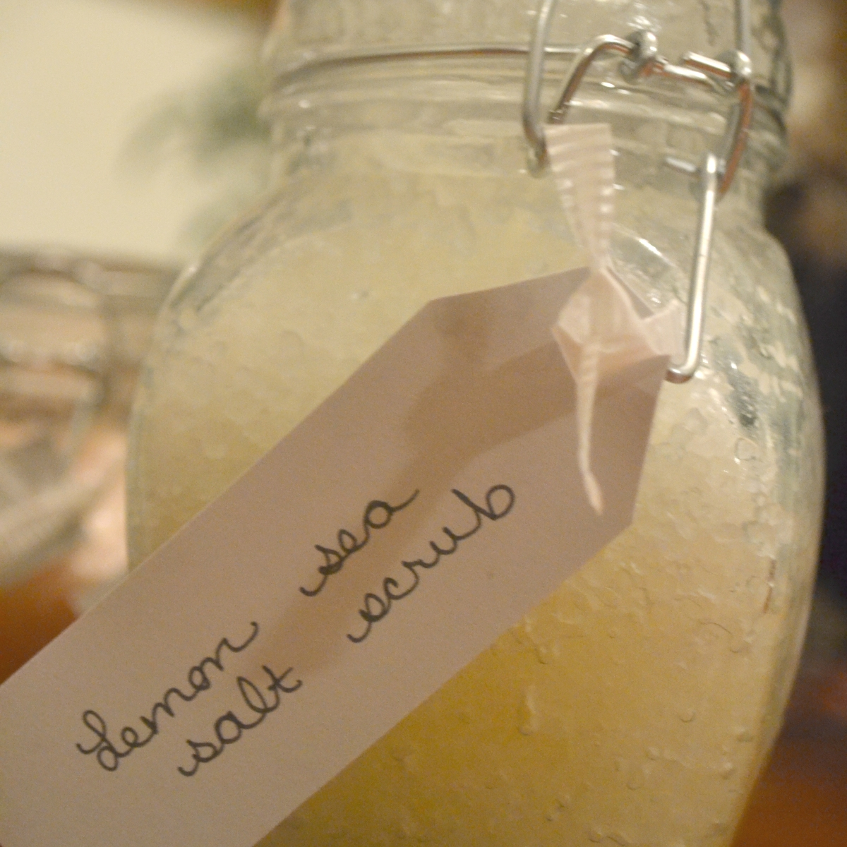 Lemony Sea Salt Scrub