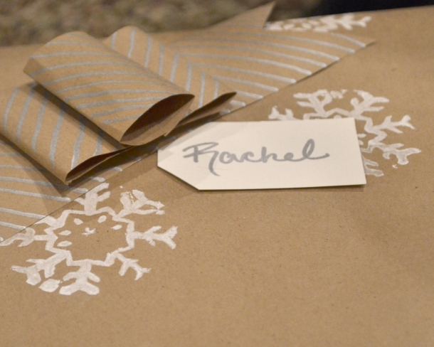 Brown paper gift wrap 1