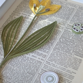"Homemade Christmas – Vintage inspired botanical ""print"""