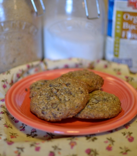 Oatmeal Buckwheat Chocolate Chip Cookies