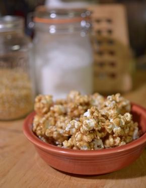 Spiced up caramel popcorn