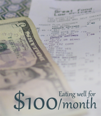 1 month $100 meal plan