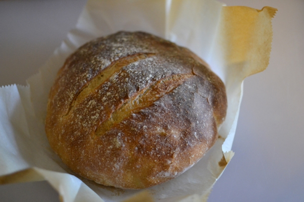 Dutch oven sourdough boule
