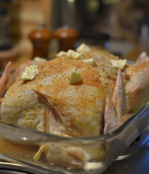 Oven roast chicken