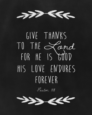 Give thanks to the Lord small