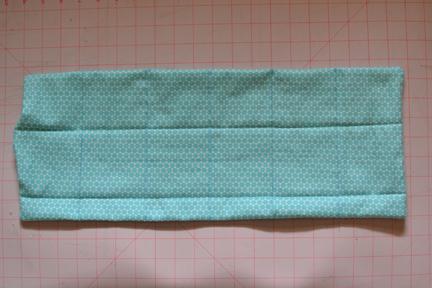 Marking seams - rice heating pad