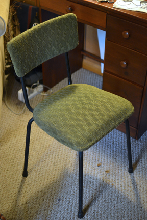 Chair reupholstery - before
