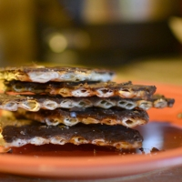Salted Toffee Matzo Brittle