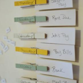 DIY Magnetic Planner