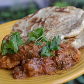 Simple chicken tikka masala (and the best butter naan)